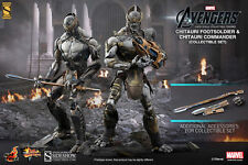 HOT TOYS SIDESHOW 1/6 AVENGERS CHITAURI FOOTSOLDIER & COMMANDER COLLECTIBLE SET