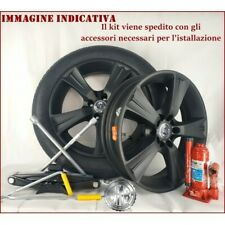 SP155130 RUOTINO DI SCORTA 125 80 17 IN LEGA + CRIC CHIAVE BORSA PER BMW 5X120 *