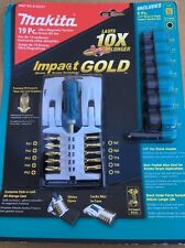 New Makita B-42357 Impact Gold Ultra-Magnetic Insert Bit and Socket Set 19-Piece