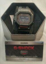 G-Shock Mens Solar Digital BLK Stainless Steel Bracelet Watch  #GMW-B5000GD-1