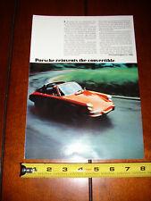 1969 PORSCHE - ORIGINAL AD
