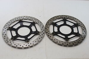 08-16 HONDA CBR1000RR FRONT LEFT & RIGHT BRAKE ROTORS DISCS - *STRAIGHT*