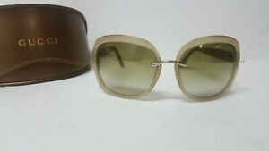 GUCCI GG2941/S 8UDK1 Oversized Wrap Women's Sunglasses with Green Lenses