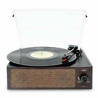 Record Player Vinyl Player Bluetooth Vinyl Turntable LP Belt-Drive 3-Speed
