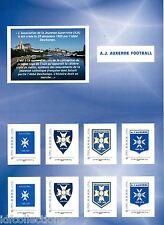 Collector privé de 8 timbres du club de foot AJ Auxerre