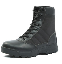 Mens Lace Up Military Canvas Ankle Boots Winter Combat Tactical Army Casual Shoe