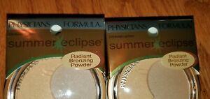 2 lot Physicians Formula Summer Eclipse Radiant Bronzing Powder 3104 Moonlight
