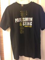 Sting & Paul Simon 2014 Concert T-Shirt On Stage Together Size Large Unisex