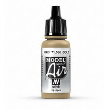 Vallejo Model Air: Gold (Metallic) - Acrylic Paint Bottle 17ml VAL71.066