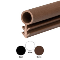 Timber Wooden Window Frame Gasket Door Seal Rubber Brown, Black or White