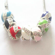 10PCS mixed European charm bead DIY fit 925 Silver Necklace Bracelet K296-1