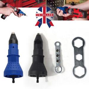 Rivet Gun Adaptor for Cordless Drill Electric Nut Riveting Riveter Insert UK