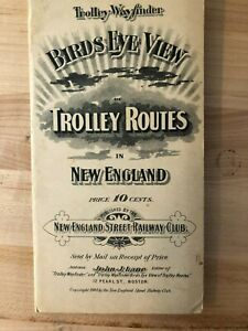 1904 Birds Eye View New England Trolley Routes