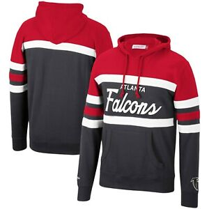 Atlanta Falcons Mitchell & Ness COACHES THROWBACK Pullover Hoodie- Red/Black