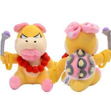 1pcs New Super Mario Bros. 8in Plush Doll Figure Wendy O. Koopa