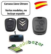 LLAVE CARCASA Citroen C1 C2 C3 C4 C5 xsara MANDO 2 DOS BOTONES HDI XS SW.ESPAÑA
