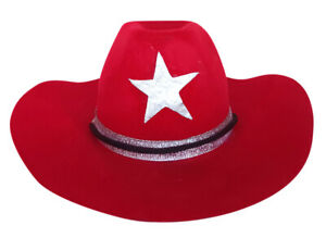 "Cowboy Hat Red Fits Most 14"" - 18"" Build-a-bear and Make Your Own Stuffed Animal"