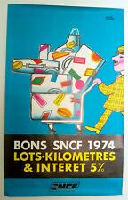 HERVE MORVAN – BONS SNCF– AFFICHE ORIGINALE -  TRES RARE - 1974