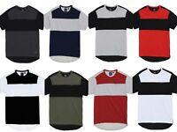 Akademiks Men's New Rule Color Block Chest Pocket Longline T Shirt
