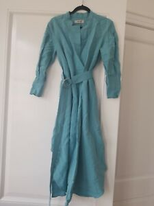 Rachel Coney Belted L/s Teal Dress NWT size 2