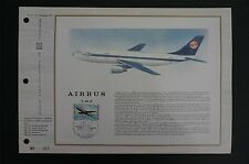 FRANCE CEF 1973 AVIATION AIRBUS FLUGZEUGE PLANE AIRPLANE ETB ERSTTAGSBLATT z1443