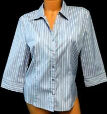 Dcc gray pink striped 3/4 sleeve folded collar plus size button down top XL
