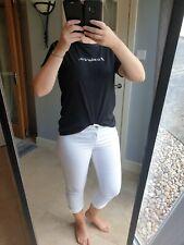 Size 12 White Jeans Cropped Capri Jean Trousers