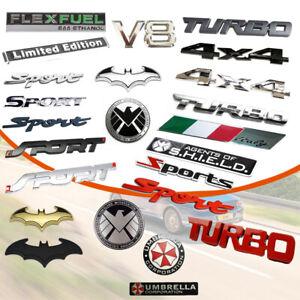 1x Car Multi-Style Metal 3D Emblem Badge Sticker Trunk Fender Decal Accessories