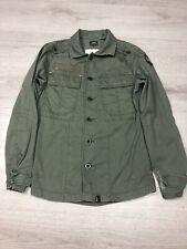 G Star Raw Men's Military Style Shirt Green Size Medium