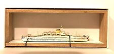 "Carat C-14 1/1250 Italy Passenger Ship ""Africa� Metal Model Ship W/ Wood Support"