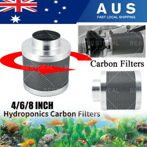 "4"" 6"" 8"" inch Carbon Filter Odor Control for Fan Grow Tent Hydroponics Environme"