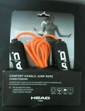 Head Fitness Jump Rope 9 ft  Orange/ Black Soft Cushion Handle NEW