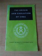 Origin and Evolution of Coal by P.J Adams B.Sc., Ph.D.