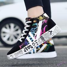 Mens Women Sneakers Shoes Lace Up Sport Painting Board Athletic Outdoor Floral