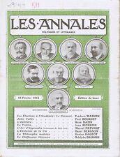 Les annales n°1599 du 15/02/1914 Académie française Jules Vallès Chiffonier
