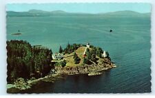 Owl's Head Maine near Rockland Owl's Head Lighthouse Camden Hills Postcard A71