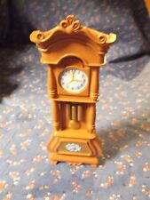 Nice Loving Family Grandfather Clock  6 5/16 Inch High  Brown
