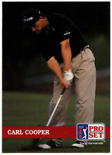 Carl Cooper #126 PGA Tour Golf 1992 Pro Set Trade Card (C322)