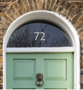 House Number for Front Door - Traditional Fanlight Sticker - Choose Colour