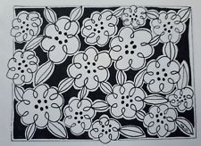 DAILY SKETCH:Original Ink Drawing 'Lobelia' by Michelle Ranson