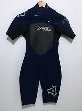 Xcel Mens Spring Shorty Wetsuit Size XS 2mm X-Flex Chest Front Zip