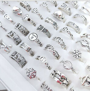 Wholesale Lots 100pcs Jewelry Unisex Hollow Alloy Lady's Fashion Rings
