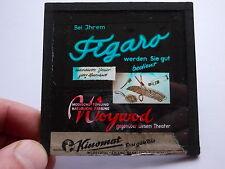 Altes Werbedia Frisör Woywod Figaro Witten Kino Reklame Glasdia