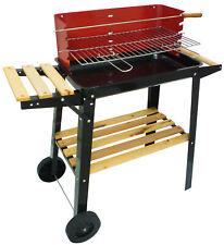 Barbecue braciere portatile in metallo ferro e acciaio a legna e carbonella BBQ