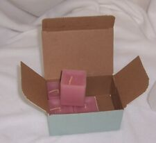 PartyLite Scent Plus Square Votives Spiced Plum Partial Box of 4 K0237