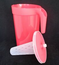 FREE SHIP Tupperware Pitcher 1 Gallon w/Infuser classic push seal drink New