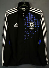 RARE MEN'S ADIDAS FC CHELSEA LONDON JACKET SOCCER FOOTBALL HOODIE BLACK SIZE M