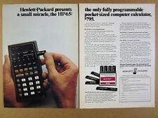 1974 Hewlett-Packard HP-65 Programmable Calculator vintage print Ad