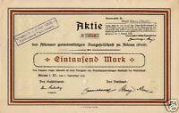 Altenaer Gemeinnützige Baugesellschaft Altena Aktie 1919 Sauerland Westfalen NRW