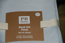 "New Pottery Barn Teen Black Out Drape Panels Liners Set/2 White/Gray 40"" x 80"""